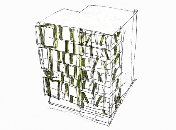 Fourrichon_Architect_berlin_mitte_Bernauerstr_corner building_sketch